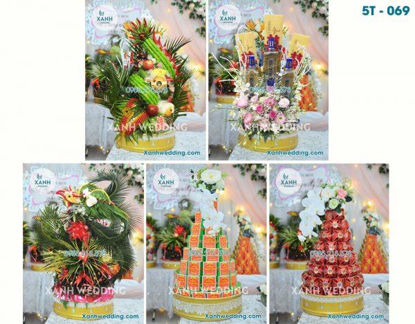 Tráp Ăn Hỏi 5 Lễ Rồng Phượng vảy mới 5T-069