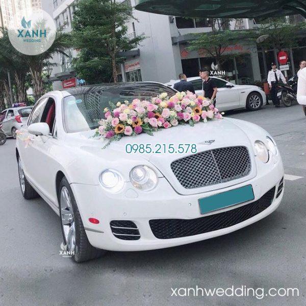 Thuê xe cưới Bentley trắng