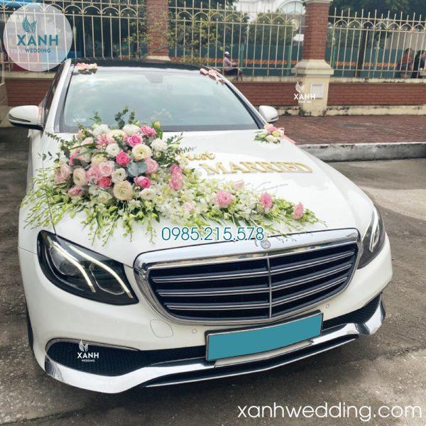 Thuê xe cưới Mercedes E200 trắng