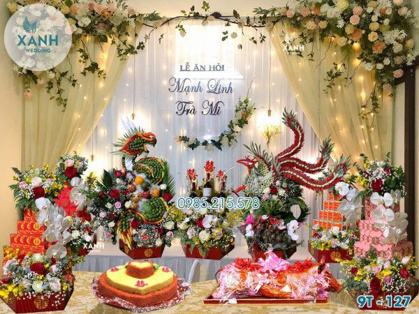 Lễ ăn hỏi 9 tráp Rồng Phượng 3D VIP cao cấp 9T-127