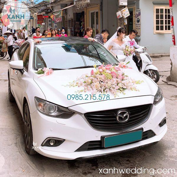 Thuê xe cưới Mazda 6 trắng