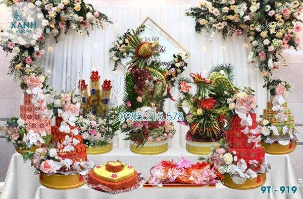 Tráp ăn hỏi 9 lễ Rồng Phượng 9T-919