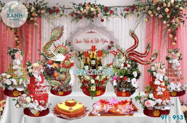 Tráp ăn hỏi 9 lễ Rồng Phượng 9T-953