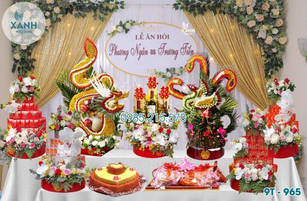 Tráp ăn hỏi 9 lễ Rồng Phượng 9T-965