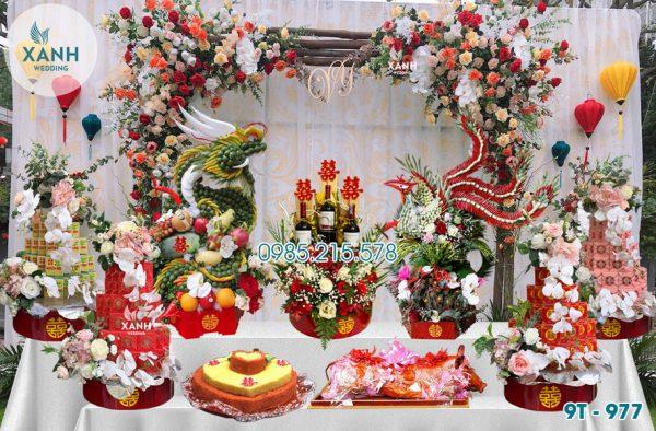 Tráp ăn hỏi 9 lễ Rồng Phượng 9T-977