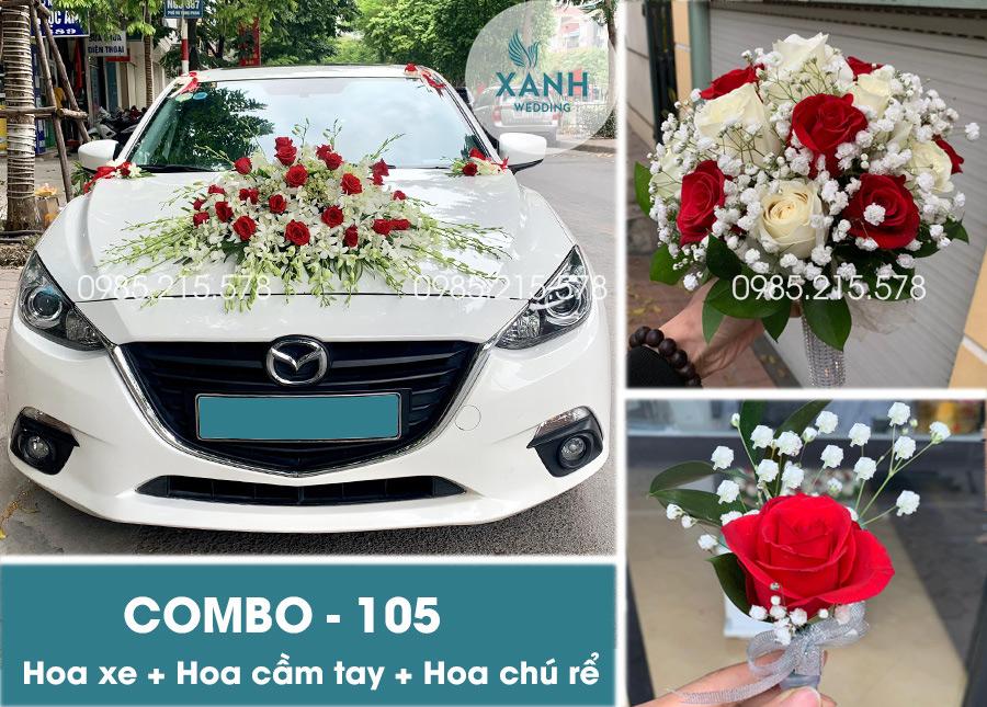 Hoa trang trí xe hoa đẹp