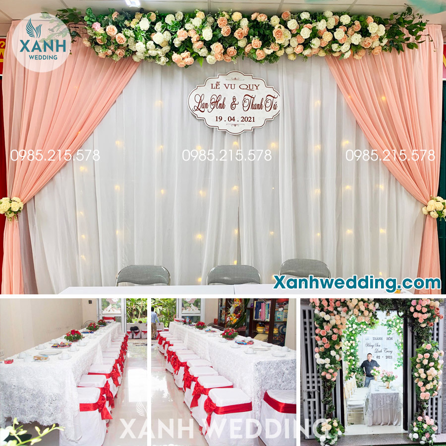 Trang trí đám cưới trọn gói tại Hà Nội Combo CB01