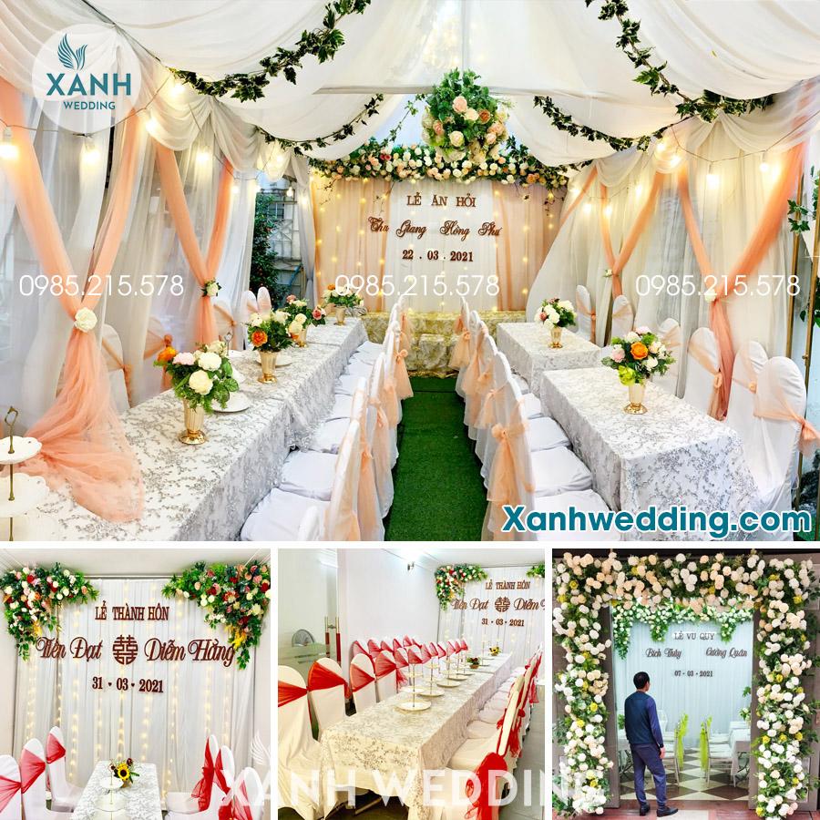 Trang trí đám cưới trọn gói tại Hà Nội Combo VIP01