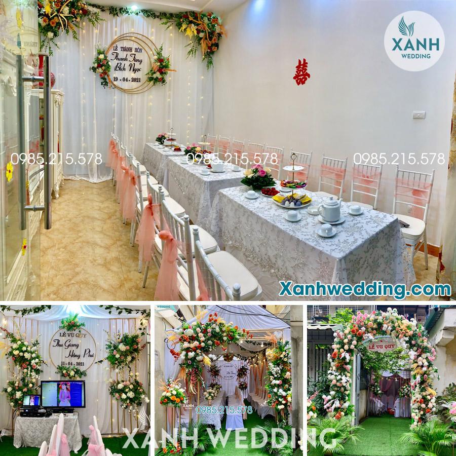 Trang trí đám cưới trọn gói tại Hà Nội Combo VIP03