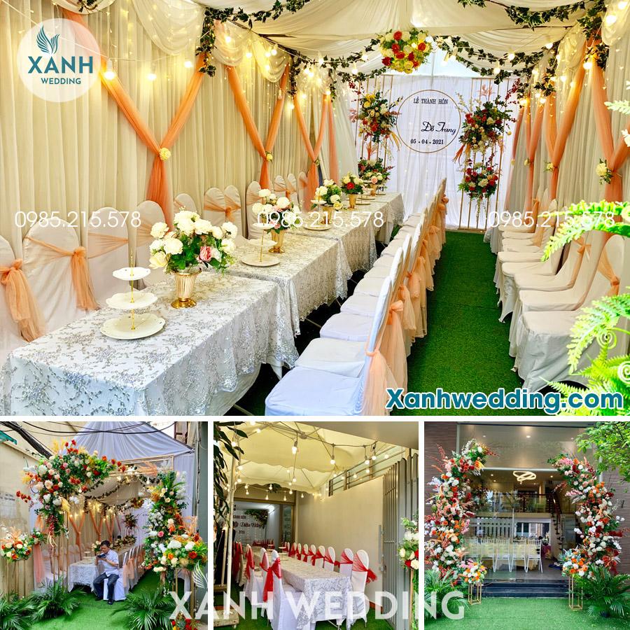 Trang trí nhà rạp đám cưới trọn gói tại Hà Nội